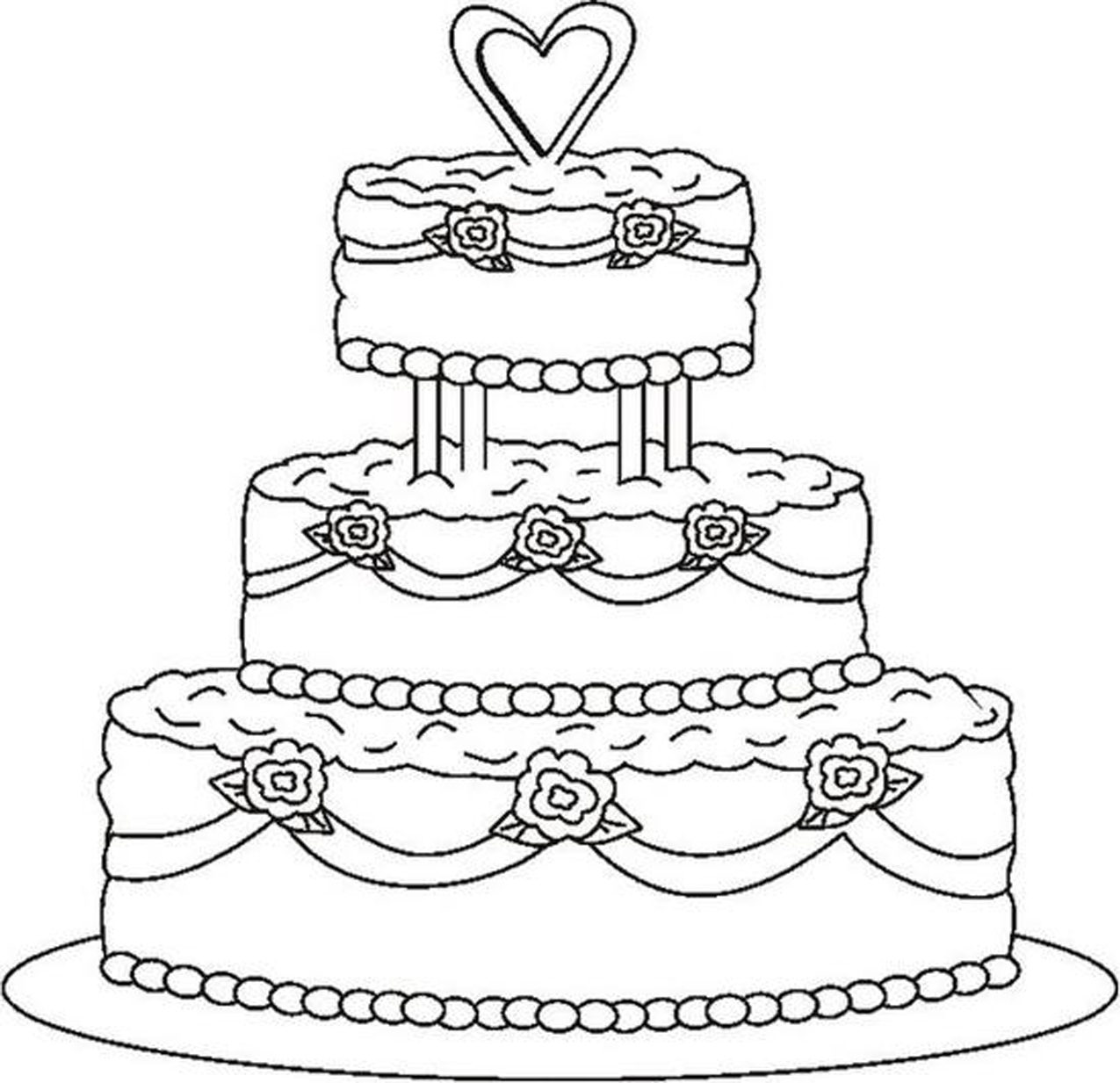 Baked goods clipart drawing. Of a wedding cake