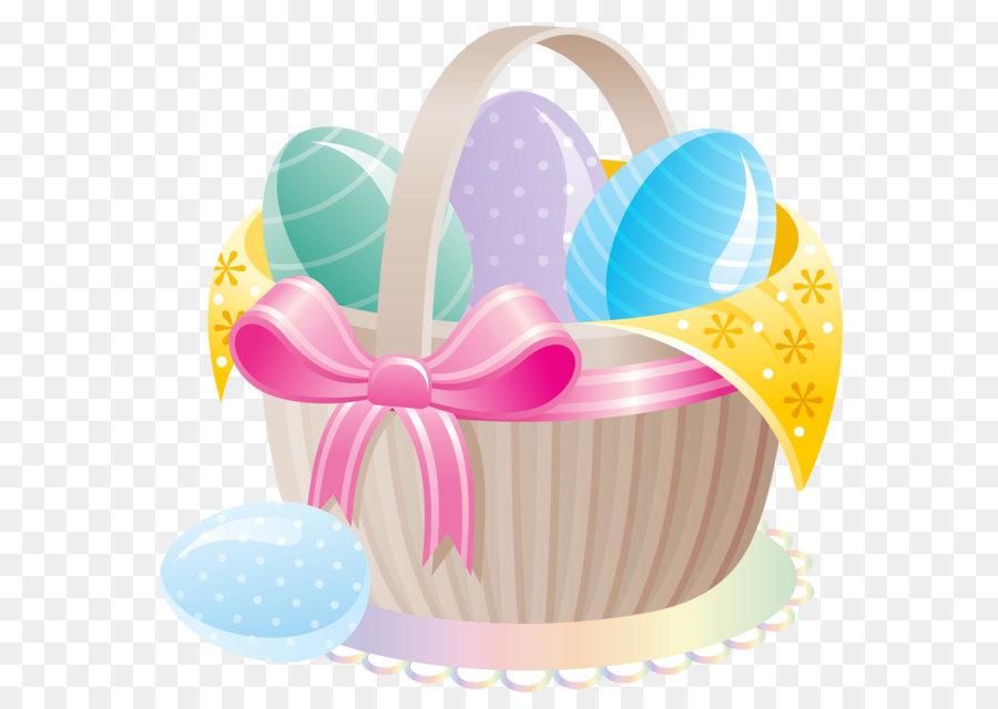 Baked goods clipart easter. Bunny egg basket clip