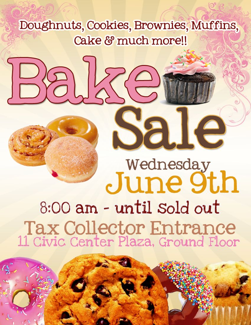 Bake sale flyer template. Baking clipart baking brownie
