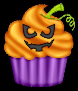 Cupcake clip art. Baked goods clipart halloween