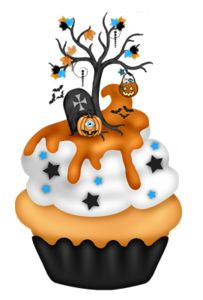 best cupcakes images. Baked goods clipart halloween