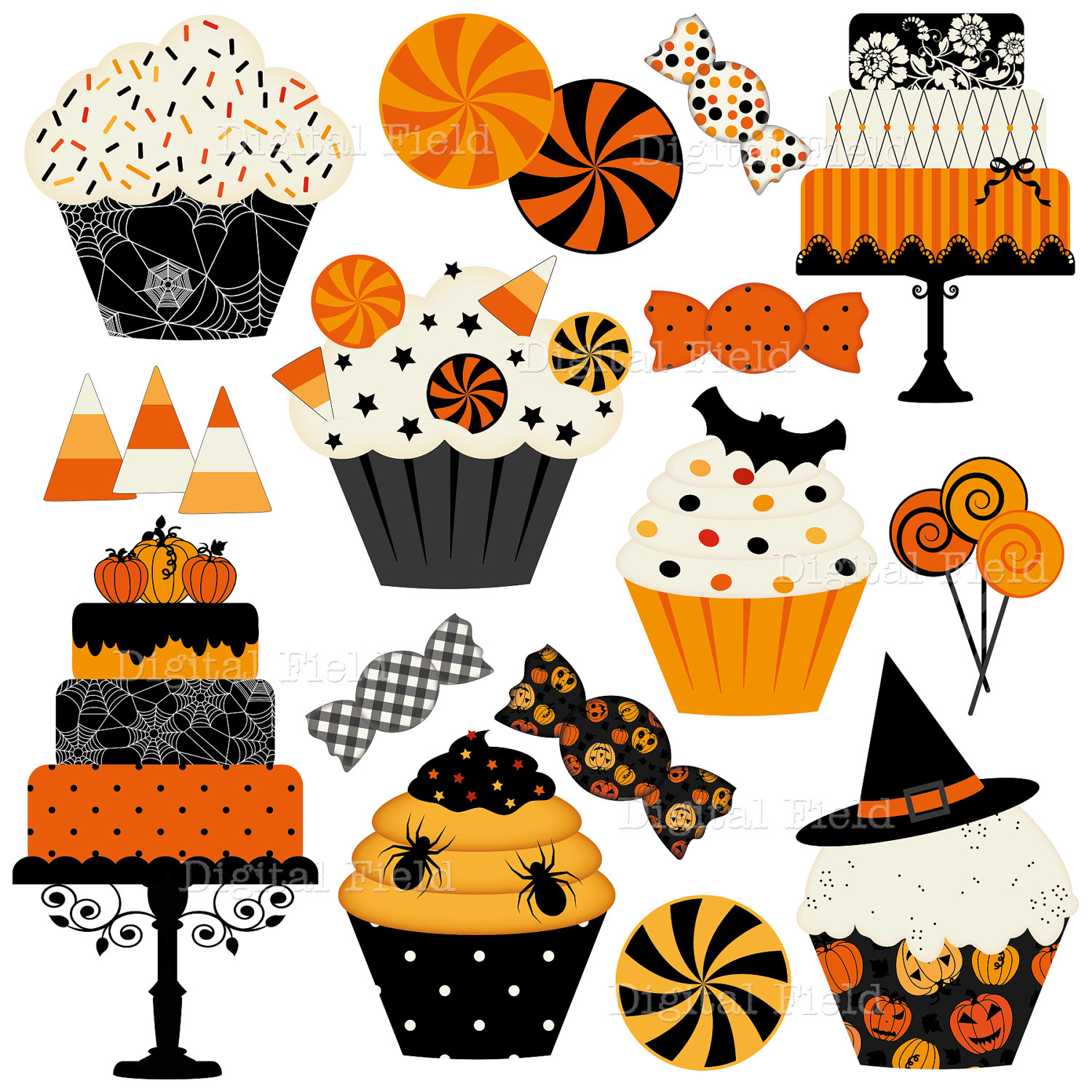 Clipart halloween baked goods. Free cool images download