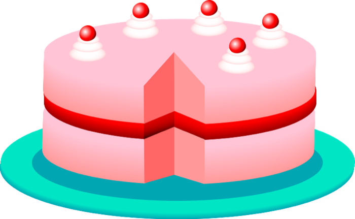 Pie clipart cake. And animations cherry