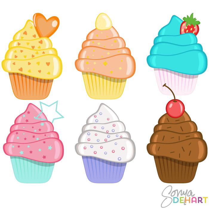 Clip art birthday cupcakes. Baked goods clipart kid