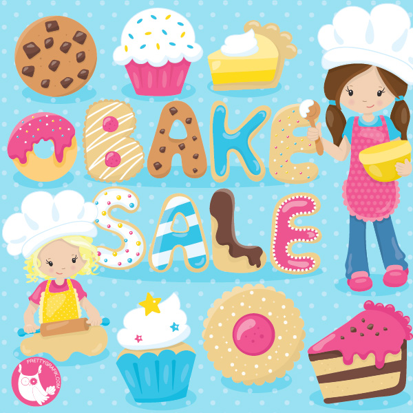 Free bake sale clip. Baked goods clipart kid