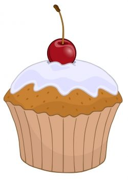 Cherry top cupcake cricut. Baking clipart muffin