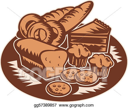 Products stock illustration gg. Bakery clipart pastry