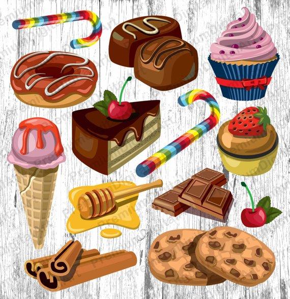 Cookies clipart baked goods.  bakery sweets cupkake
