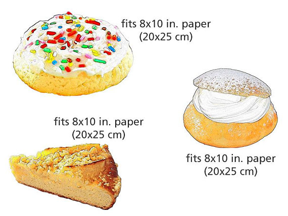 Baked goods clipart pastry. Baking collection food illustration