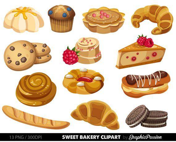 Bakery sweet treat clip. Desserts clipart fancy dessert