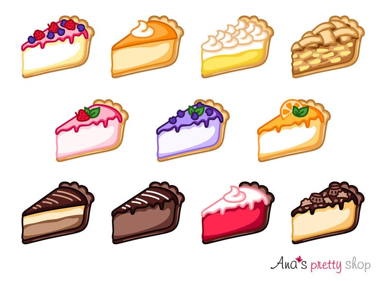 Cheesecake traditional apple pumpkin. Baked goods clipart pie
