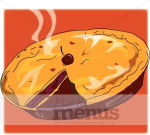 Baked goods clipart pie. Cherry