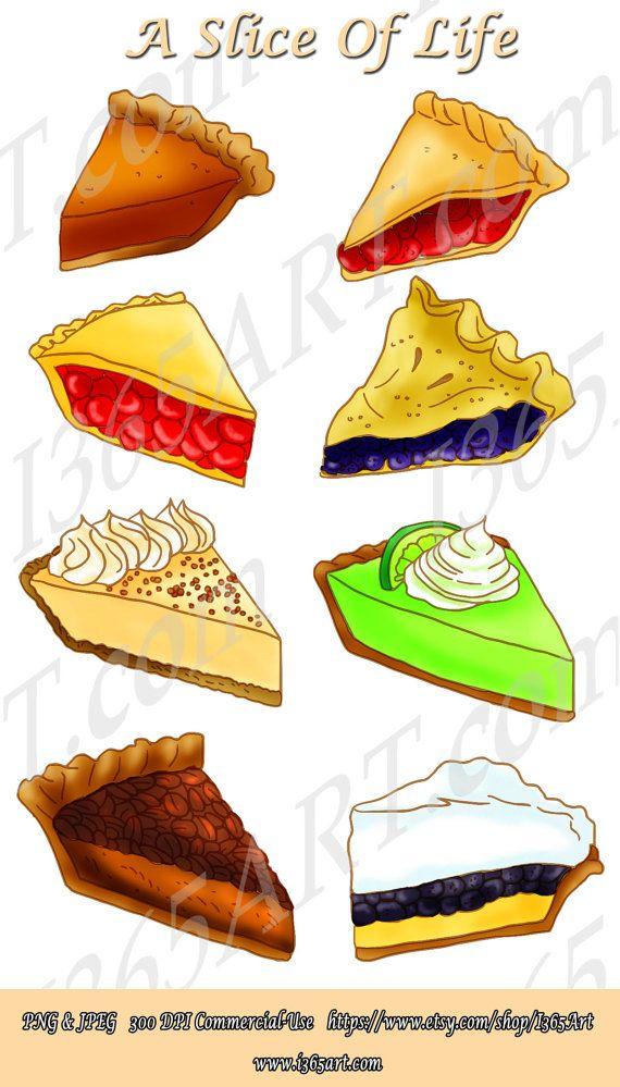 Pie clipart comfort food. Slice dessert digital scrapbooking