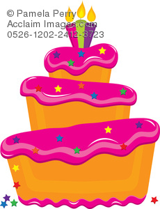 Cake clipart funky. Pamela perry stock photography