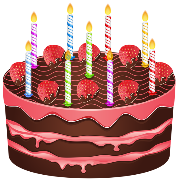 Red clipart cake. Birthday png transparent clip