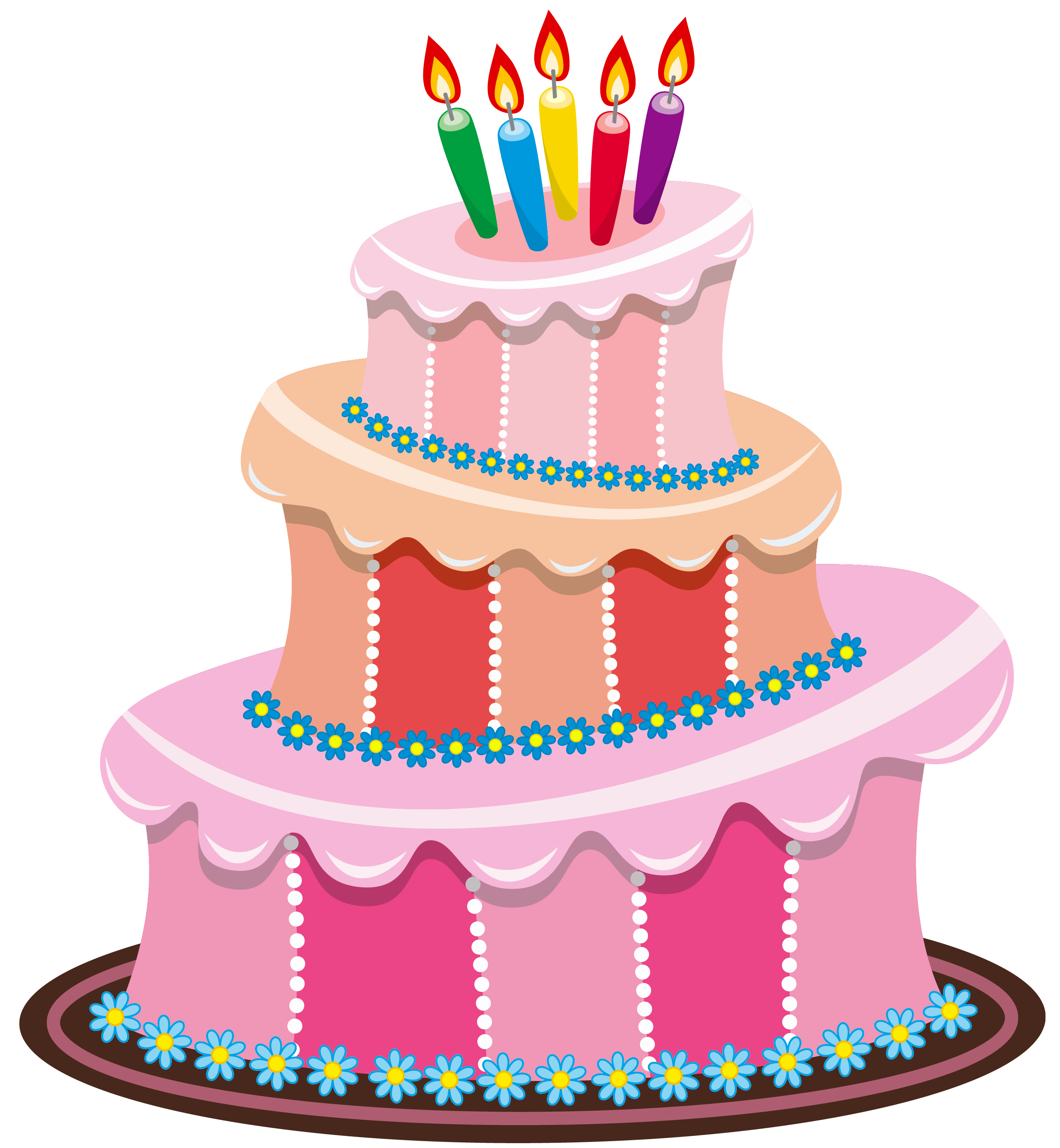 Pink birthday png gallery. Clipart border cake