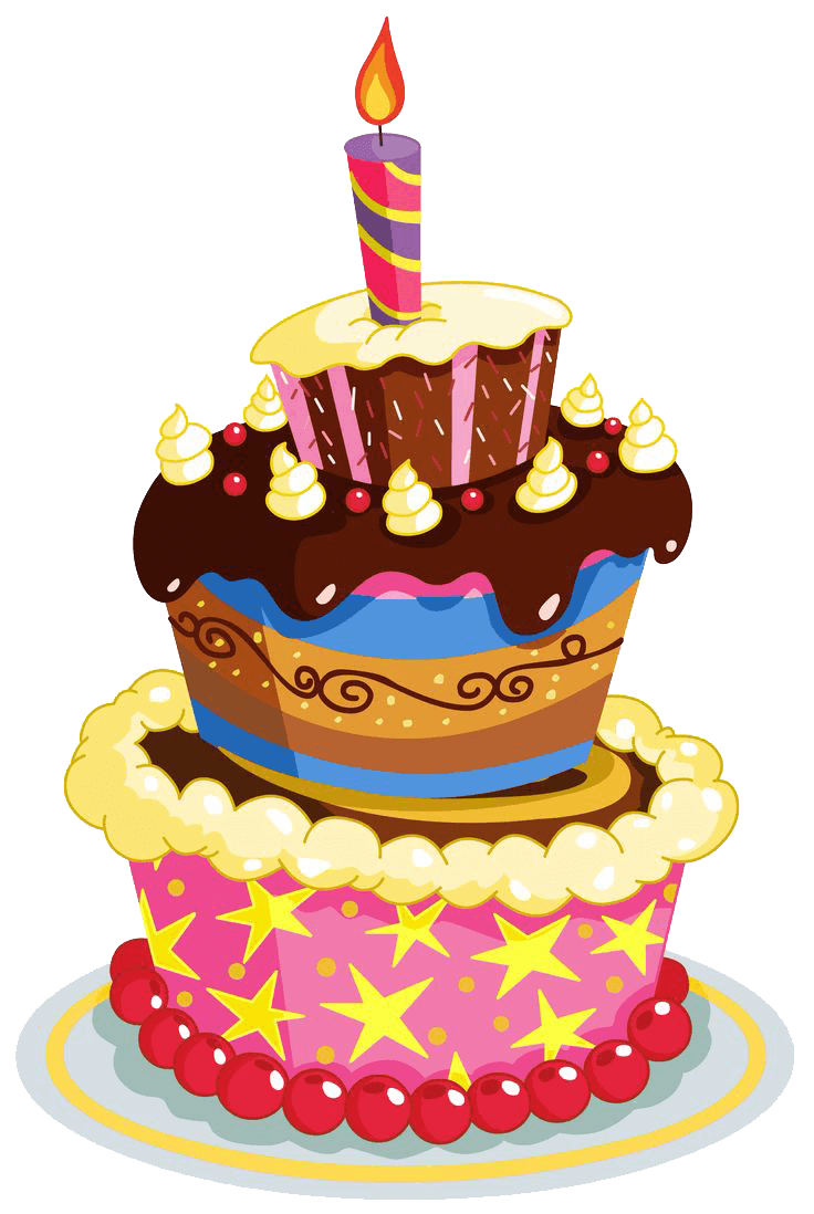 Birthday layers transparent png. Clipart cake drawing