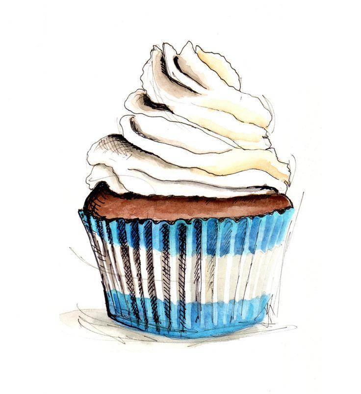 Baked goods clipart vanilla cupcake.  best illustrations fantasy