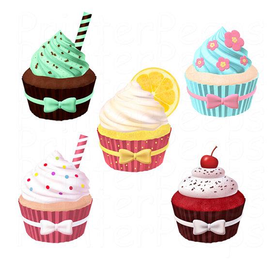 Baked goods clipart vanilla cupcake. Items similar to scrapbook