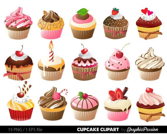 Muffins clipart mint cupcake. Cupcakes digital clip art