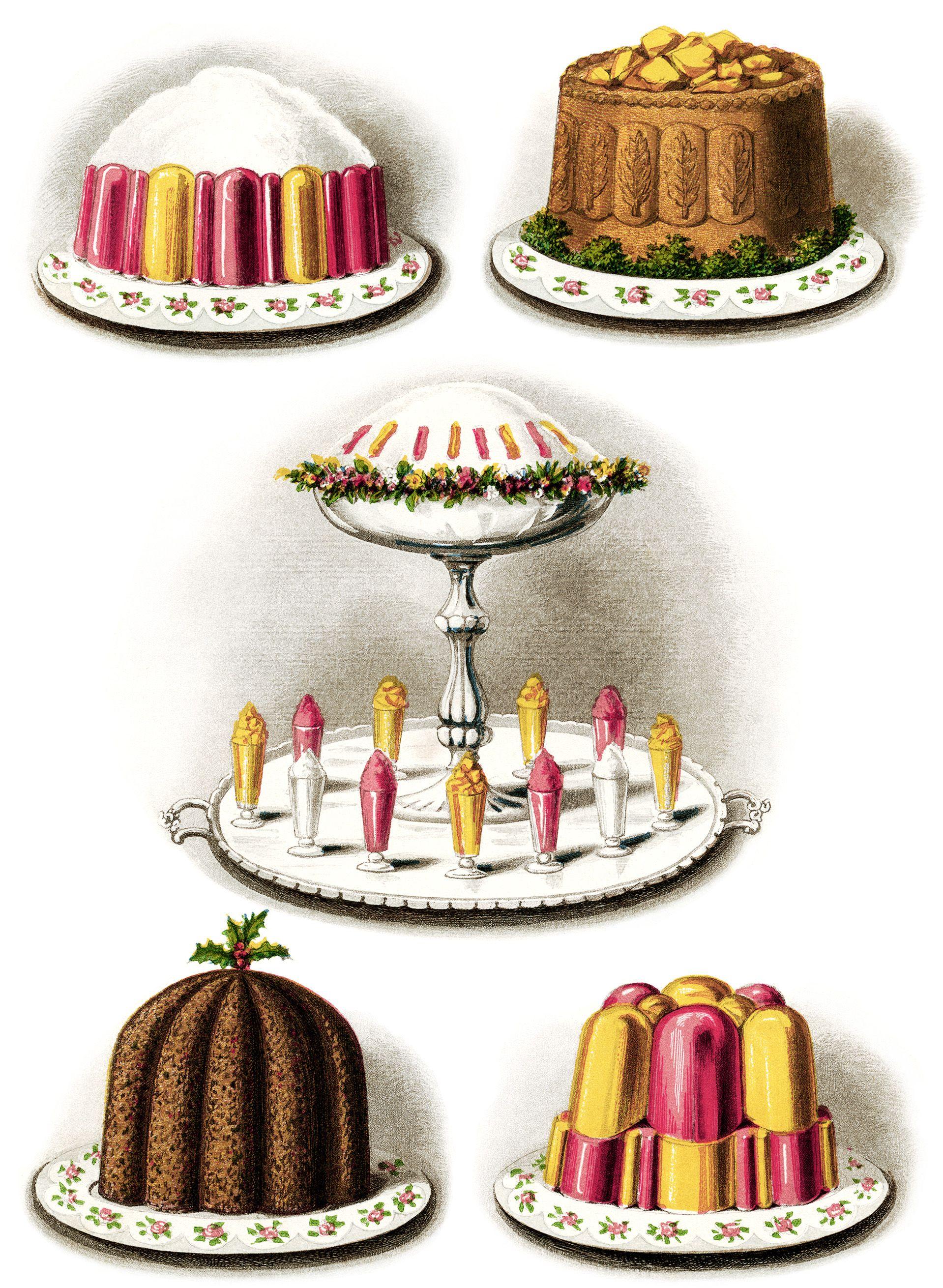 Desserts clipart vintage. Baked goods baking clip