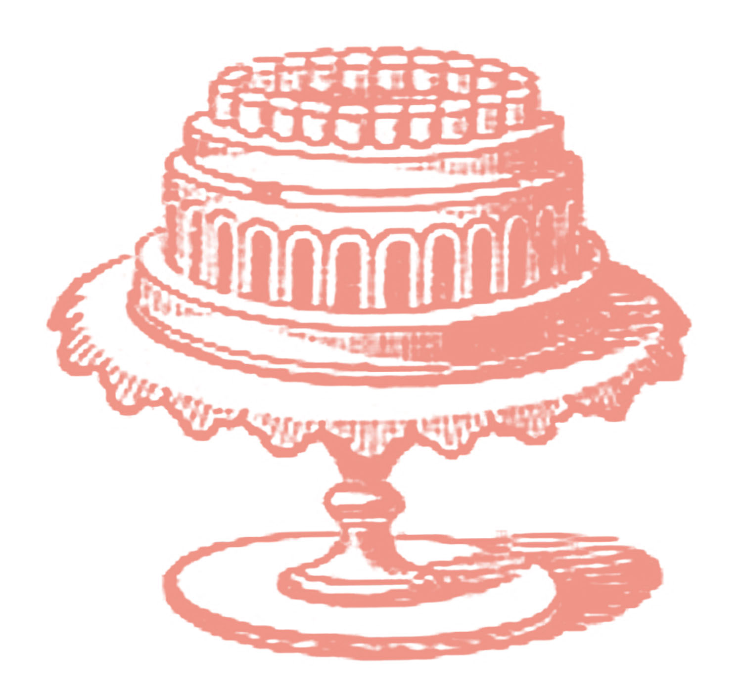 Free vintage images on. Cake clipart fancy