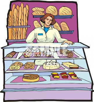 Clip art of a. Pie clipart woman baker