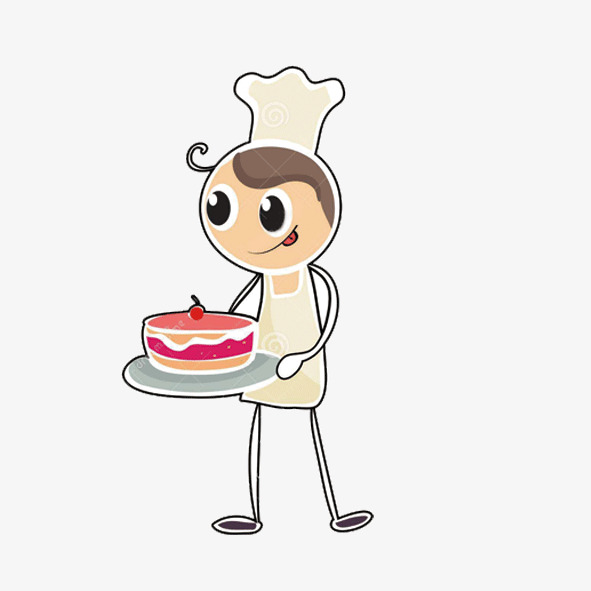 Baker clipart animated. Cartoon material bakers baking