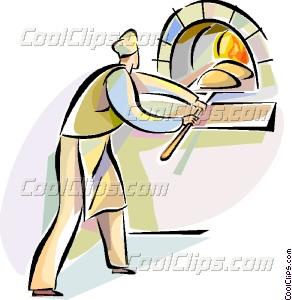 Bakers vector clip art. Baker clipart baker oven