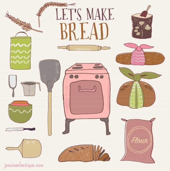 Cooking utensils baking bread. Baker clipart baker oven