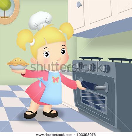 Baker clipart baker oven. Clip art pie girl