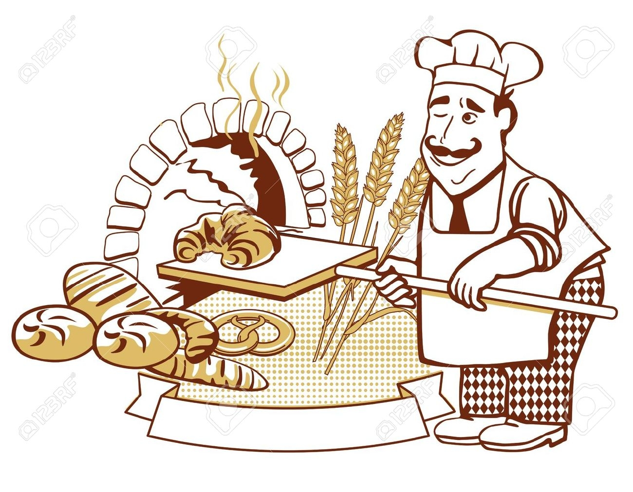 Awesome gallery digital collection. Bakery clipart baker