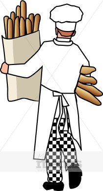 Bread chef. Baker clipart bakery