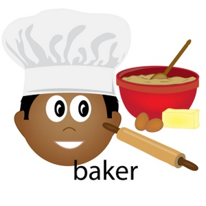 Free image computer working. Baker clipart bakery