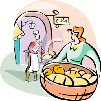 Baker clipart baking bread. Bakery pencil and in