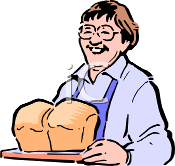 Clip art picture of. Baker clipart baking bread