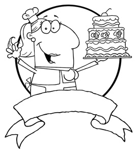 Baker clipart black and white. Free image computer female