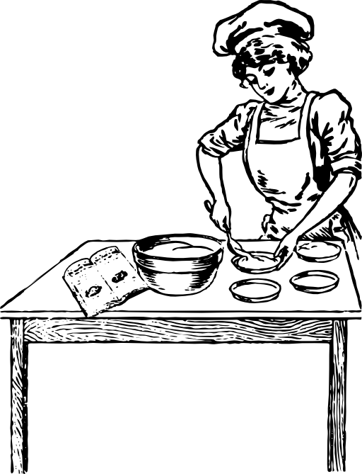 Baker black and white. Bakery clipart transparent