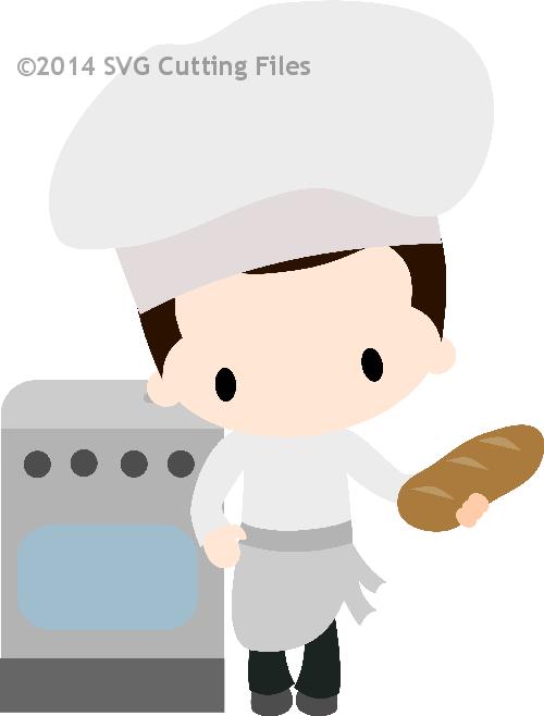 Chibi tarjeteria scrap pinterest. Baker clipart boy baker