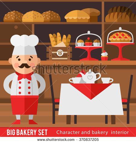 And the interior of. Baker clipart bread factory