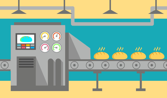 Computer vision to solve. Baker clipart bread factory