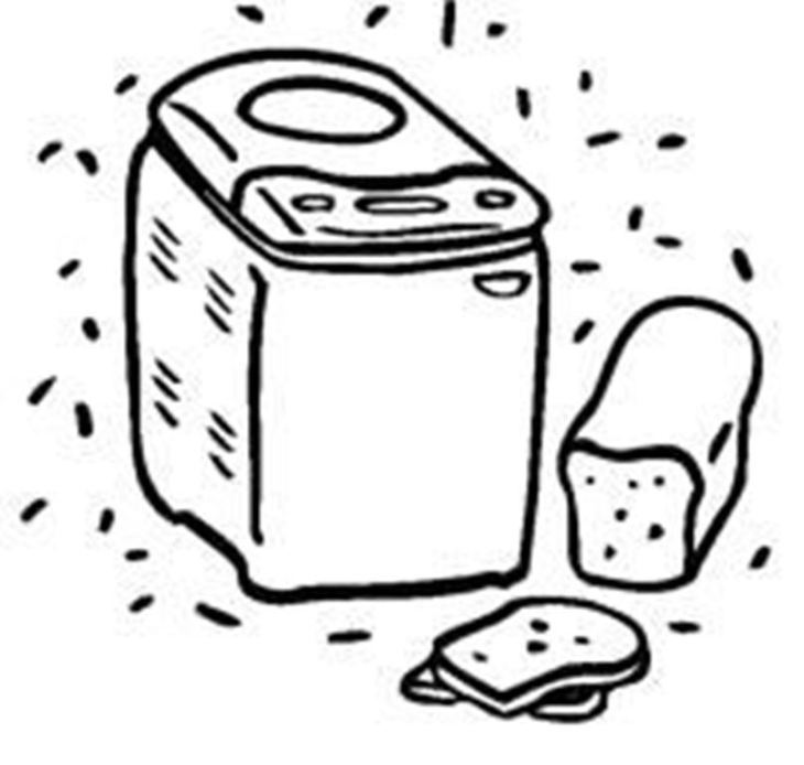 Perfect pb machine instruction. Baker clipart bread maker