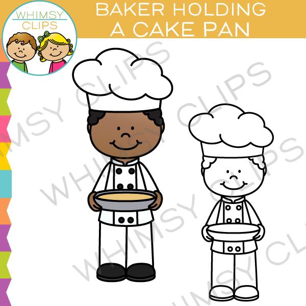 Baker clipart cake. Cilpart chic design clip