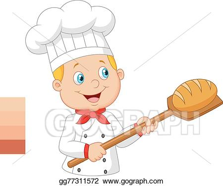 Eps vector baker holding. Bakery clipart cartoon