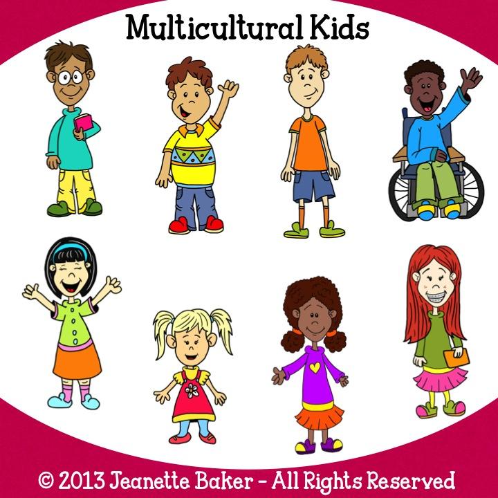 Free multicultural kids clip. Baker clipart child