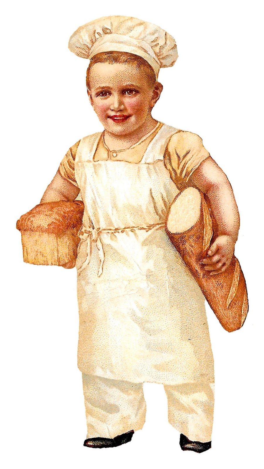 Baker clipart child. Antique images free bread