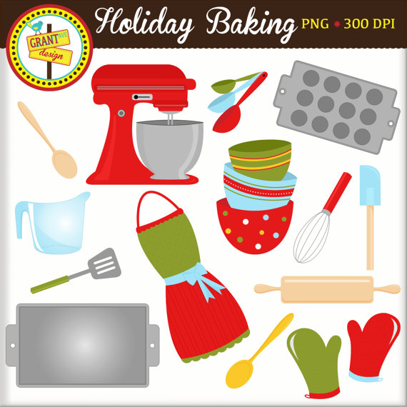 Holiday baking clip art. Baker clipart christmas