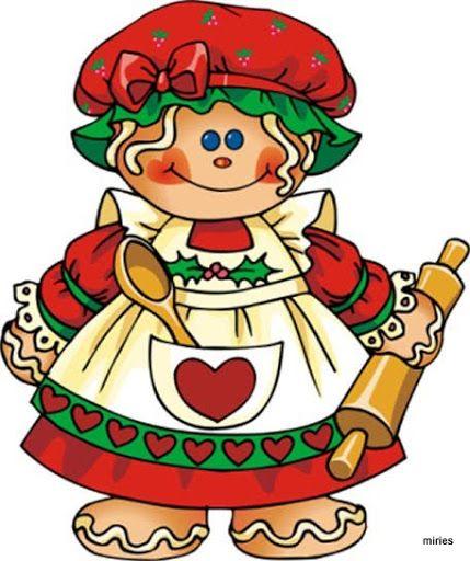 best darling gingerbread. Baker clipart christmas