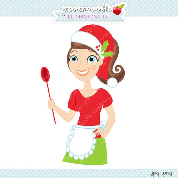 Character illustration cartoon . Baker clipart christmas