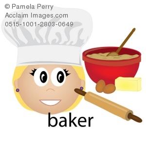 Baker clipart clip art. Illustration of a female